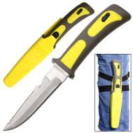 """Survivor 9"""" Scuba Diving Knife With Leg Straps"""