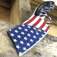 "WarTech 8.25"" Proud American USA Flag Cleaver Style Knife"