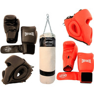 Last Punch Boxing Gloves Set With Headgear And Punching Bag
