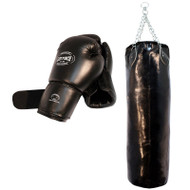 Last Punch Boxing Gloves With Punching Bag