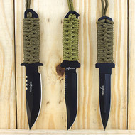 Survivor 3 Piece Fixed Blade Full Tang Hunting Knife Set