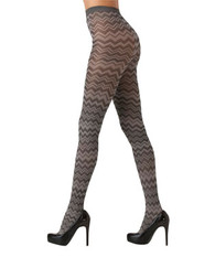 Kardashian Kollection Grey Chevron Tights