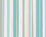 Winter Woodland - Stripes Light Teal by Diane Neukirch from Clothworks Fabrics