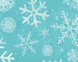 Winter Woodland - Snowflakes Aqua by Diane Neukirch from Clothworks Fabrics