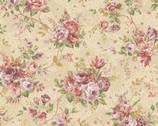 Zelie Ann - Erma's Bouquet Beige by Eleanor Burns from Benartex Fabric