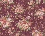 Zelie Ann - Erma's Bouquet Burgundy by Eleanor Burns from Benartex Fabric