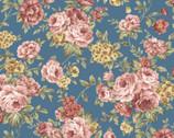 Zelie Ann - Harmony Teal by Eleanor Burns from Benartex Fabric