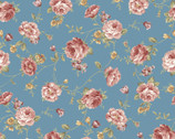 Zelie Ann - Else's Flower Teal by Eleanor Burns from Benartex Fabric