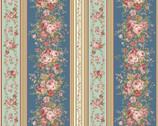 Zelie Ann - Border Stripe Teal by Eleanor Burns from Benartex Fabric