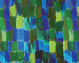 Painted Horses - Crayon Green Multi by Marcia Baldwin from Benartex Fabric
