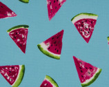 Sweet Fruits OXFORD - Watermelon Turquoise from Cosmo Fabric