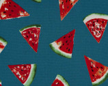 Sweet Fruits OXFORD- Watermelon Teal from Cosmo Fabric