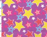 Stars Light Purple FLANNEL from EE Schenck Fabric