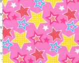 Stars Pink FLANNEL from EE Schenck Fabric