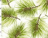 Poinsettia and Pine - Fresh Pine Cream from Maywood Studio Fabric