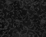 Poinsettia and Pine - Elegant Scrolls Black from Maywood Studio Fabric