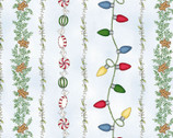 Christmas Joys FLANNEL - Garland Stripe Blue by Kris Lammers from Maywood Studio Fabric
