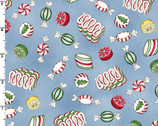 Christmas Joys FLANNEL - Candy Blue by Kris Lammers from Maywood Studio Fabric