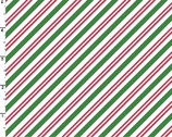 Christmas Joys FLANNEL - Candy Cane Stripe Green Red by Kris Lammers from Maywood Studio Fabric