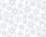 Christmas Joys FLANNEL - Snowflakes White by Kris Lammers from Maywood Studio Fabric