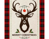 Merry Deer PANEL by Kate Ward Thacker from Springs Creative Fabric