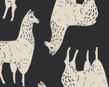 Cusco - Llama Black from Camelot Fabrics