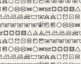 Loads of Fun - Care Symbols Black by Chelsea DesignWorks from Studio E Fabrics