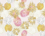 Flamingo Paradise - Pineapples Taupe from David Textiles Fabric