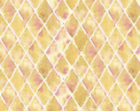 Flamingo Paradise - Geometric Diamond Gold Color from David Textiles Fabric