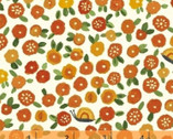BFFS - Blossoms Orange by Carolyn Gaven from Windham Fabrics