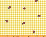 BFFS - Ladybug Checkered Yellow by Carolyn Gaven from Windham Fabrics