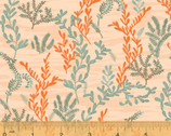 Mermaids - Sea Fern Coral Pink  from Windham Fabrics