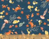Mermaids - Sea Life Navy from Windham Fabrics