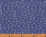 Atlas FLANNEL - Mini Pyramids Blue Navy by Another Point of View from Windham Fabrics