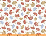 A Walk In The Woods - Mushroom White by Whistler Studios from Windham Fabrics