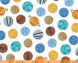 Out of This World - Planets White by Whistler Studios from Windham Fabrics