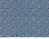 Hedge Rose - Hashtag Blue by Kelly Panacci from Riley Blake Fabric