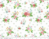 Vintage Keepsakes - Floral White by Beverly McCullough from Riley Blake Fabric