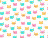 Cuddly Kittens FLANNEL 2 - Kittens Sorbet by Wendy Kendall from Robert Kaufman Fabric
