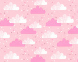 Cuddly Kittens FLANNEL 2 - Clouds Pink by Wendy Kendall from Robert Kaufman Fabric