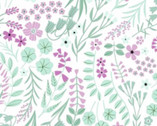 Woodland Wander - Floral Toss White from Clothworks Fabric