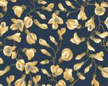 English Countryside - Vining Buds Navy from Maywood Studio Fabric