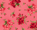 Chloe - Geraniums Sprigs Soft Red from Maywood Studio Fabric