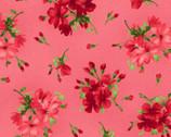Chloe - Geraniums Sprigs Soft Red from Maywood Studio Fabric