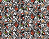 Woodland Tribe - Feathers Grey by Jessica Flick from 3 Wishes Fabric