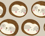 Restful Sloths - Tan from 3 Wishes Fabric