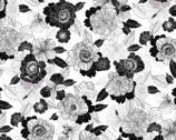 Midnight Pearl - Pearlescent Blooms White by Kanvas from Benartex Fabric