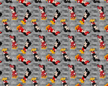 Mickey and Minnie Mouse - Pixel Crossy Road from Springs Creative Fabric