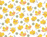 Carrot Patch - Chicks White from Studio E Fabrics