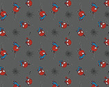 Kawaii Marvel FLANNEL - Spiderman Grey from Camelot Fabrics